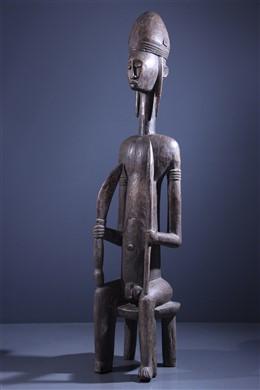 Large statue of a dignitary Bambara