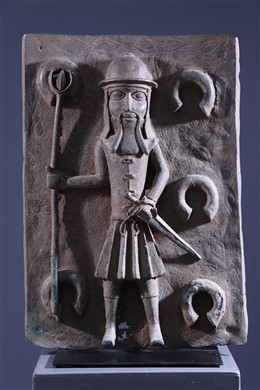 Benin Bronze Portuguese Colon Plate