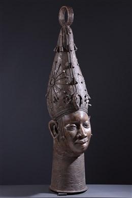 Large Royal Altar Head Benin