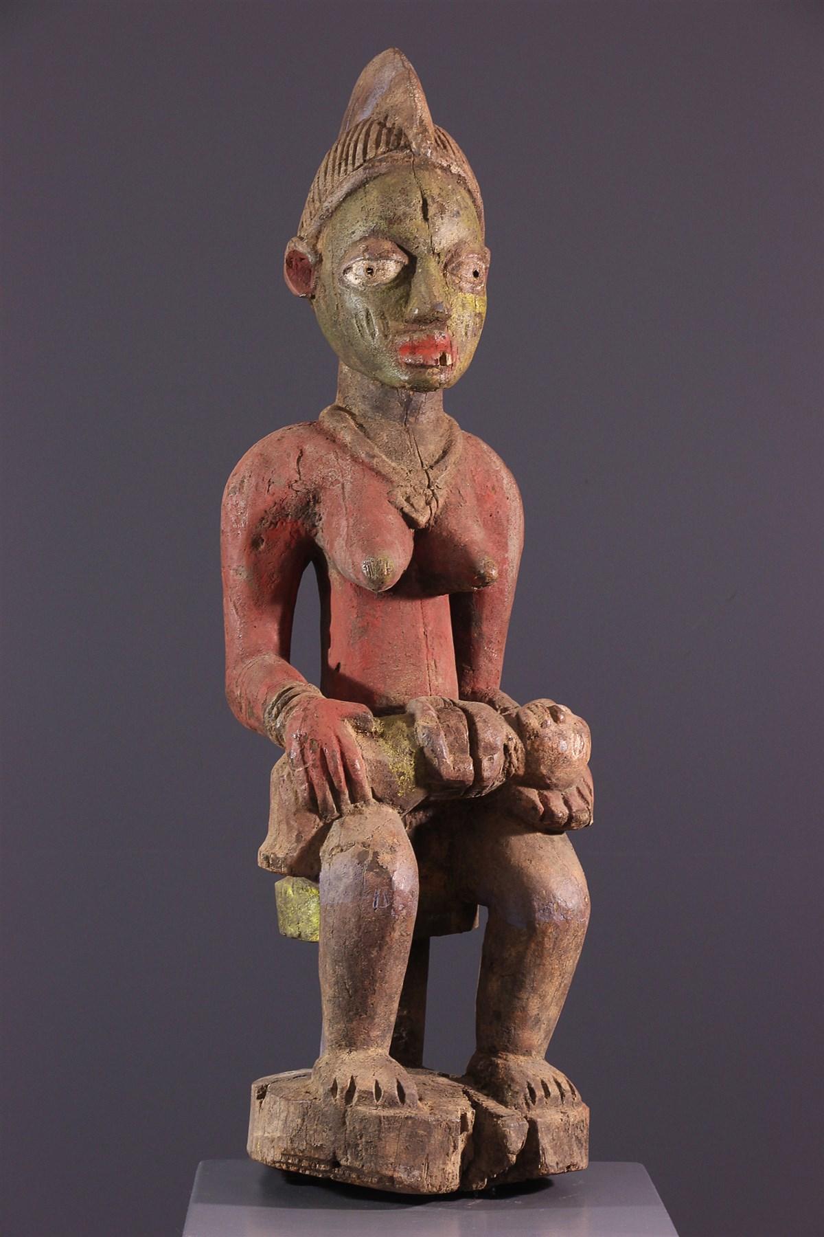Yoruba Polychrome Maternity - African art