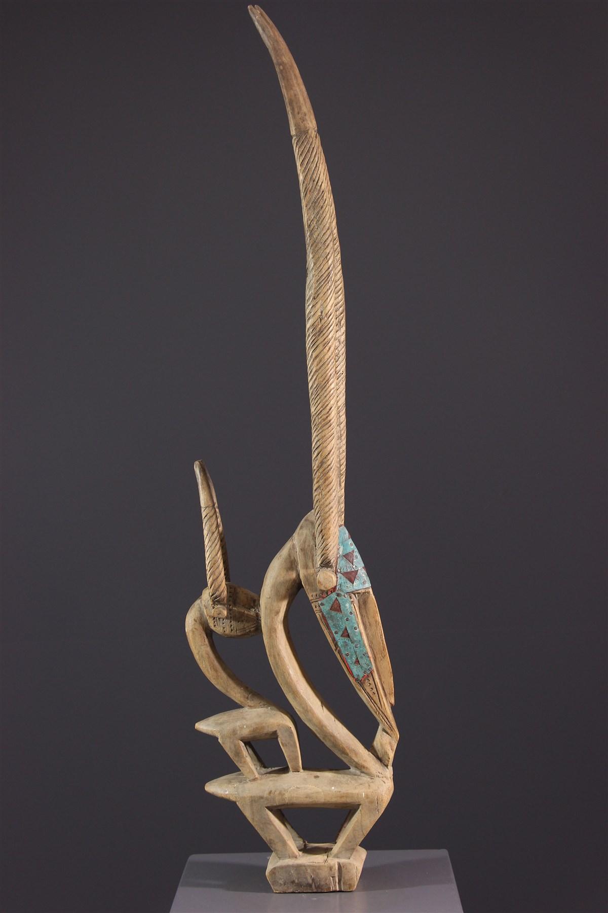 Ci Wara Crest Mask - African art