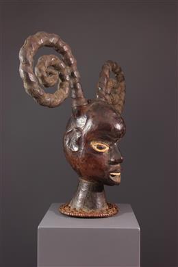 African art - Mask crest Ekoi Ejagham