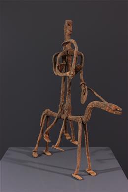 African art - Equestrian figure Lobi
