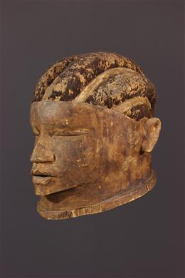 African art - Makonde Lipoko helmet mask