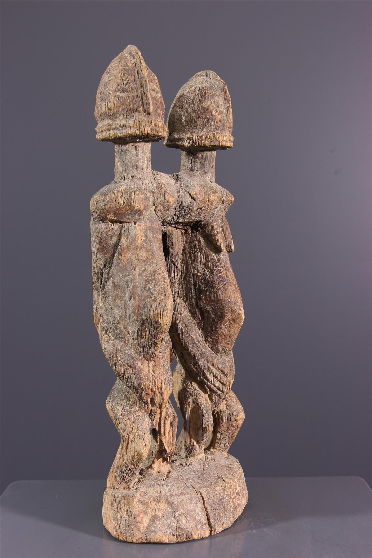 Statue couple Dogon - African art