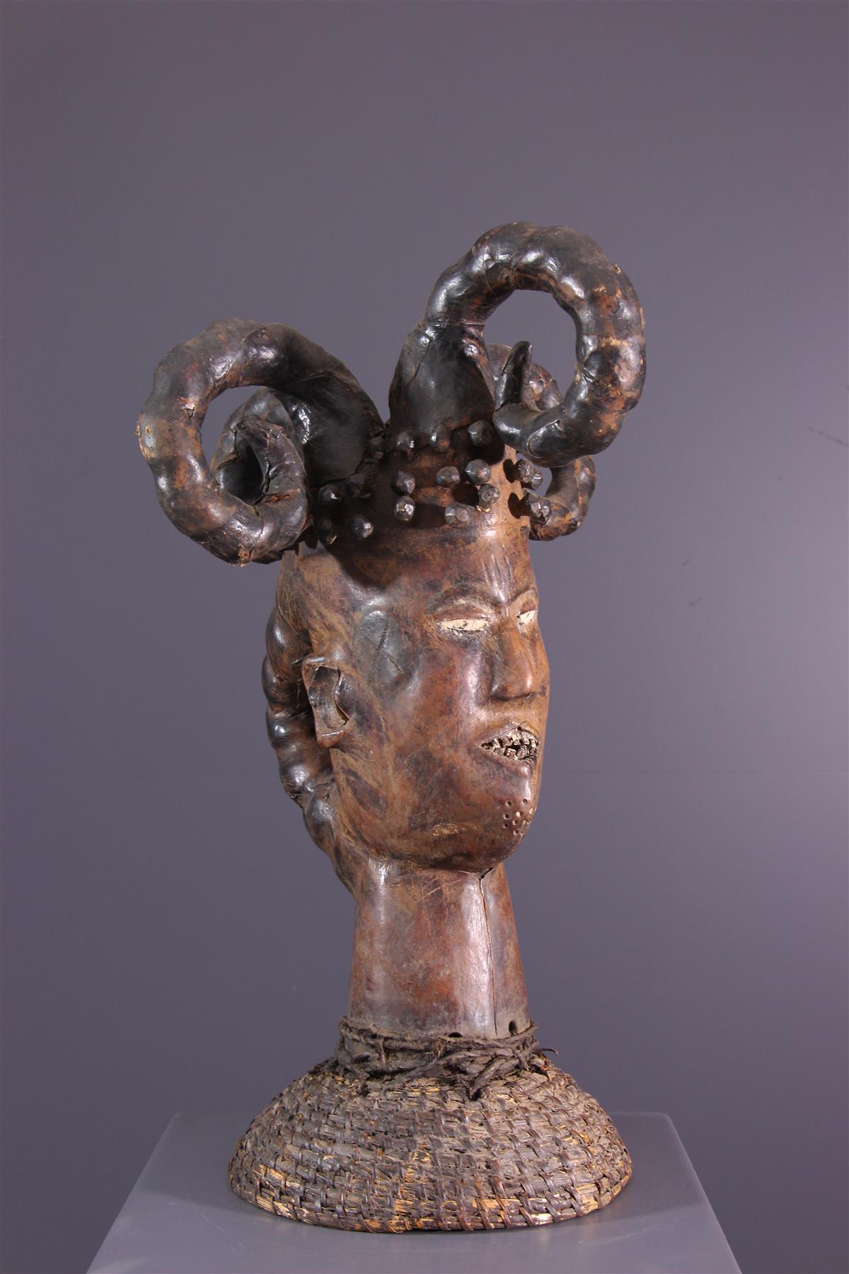 Ejagham Crest Mask - African art