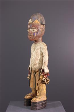 Yoruba polychrome memorial statue
