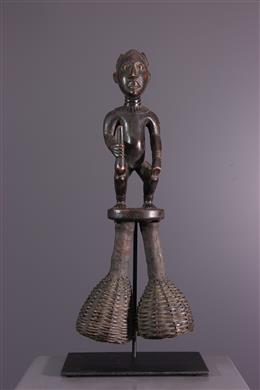 Bamileke Bangwa ritual rattle rings