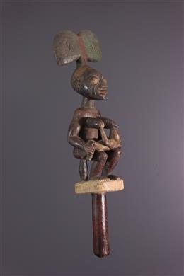 African art - Sceptre Oshe Shango Yoruba