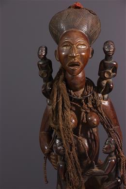 African art - Maternity figure Kongo Yombe Phemba