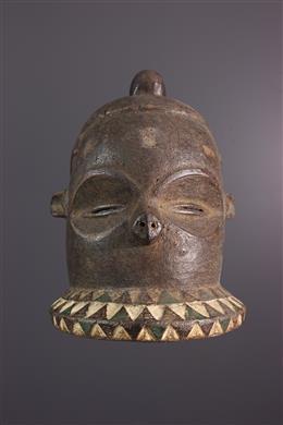 African art - Kipoko Pende Mask, Mbundju