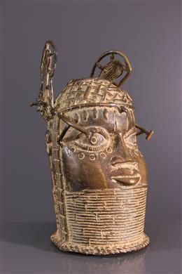 African art - Bronze Benin commemorative head