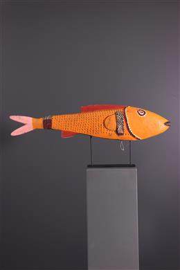 African art - Bozo fish puppet