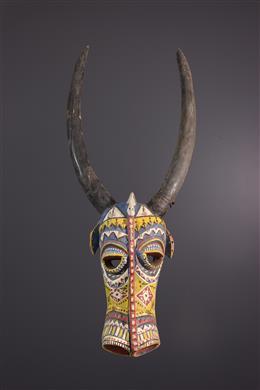 Bozo polychrome face mask
