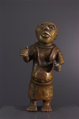 Benin court dwarf in bronze