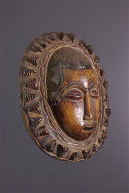 Mask Baoulé moon