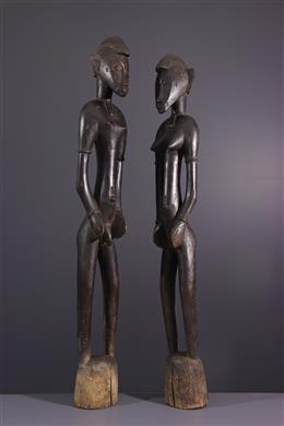 Couple of statues Deblé Senoufo