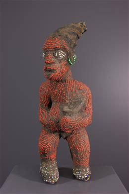 Bamileke beaded statuette