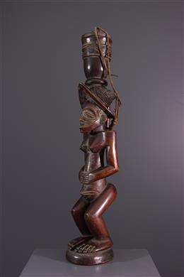 African art - Chokwe Cut Carrier Statue