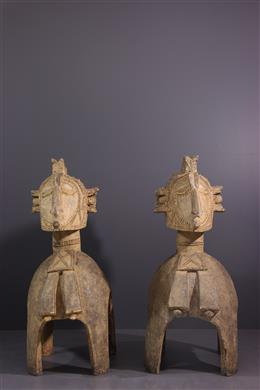 Couple of large shoulder masks Baga Nimba