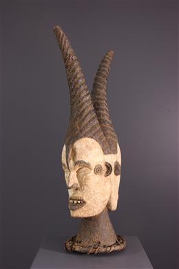Janiform crest mask Idoma Ungulali