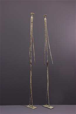 Primary couple figures Dogon in bronze
