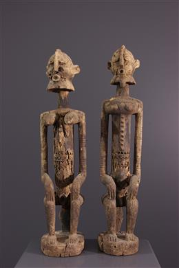 African art - Dogon statues of the primordial couple