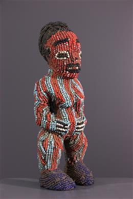 Bamoun/Bamileke beaded statue