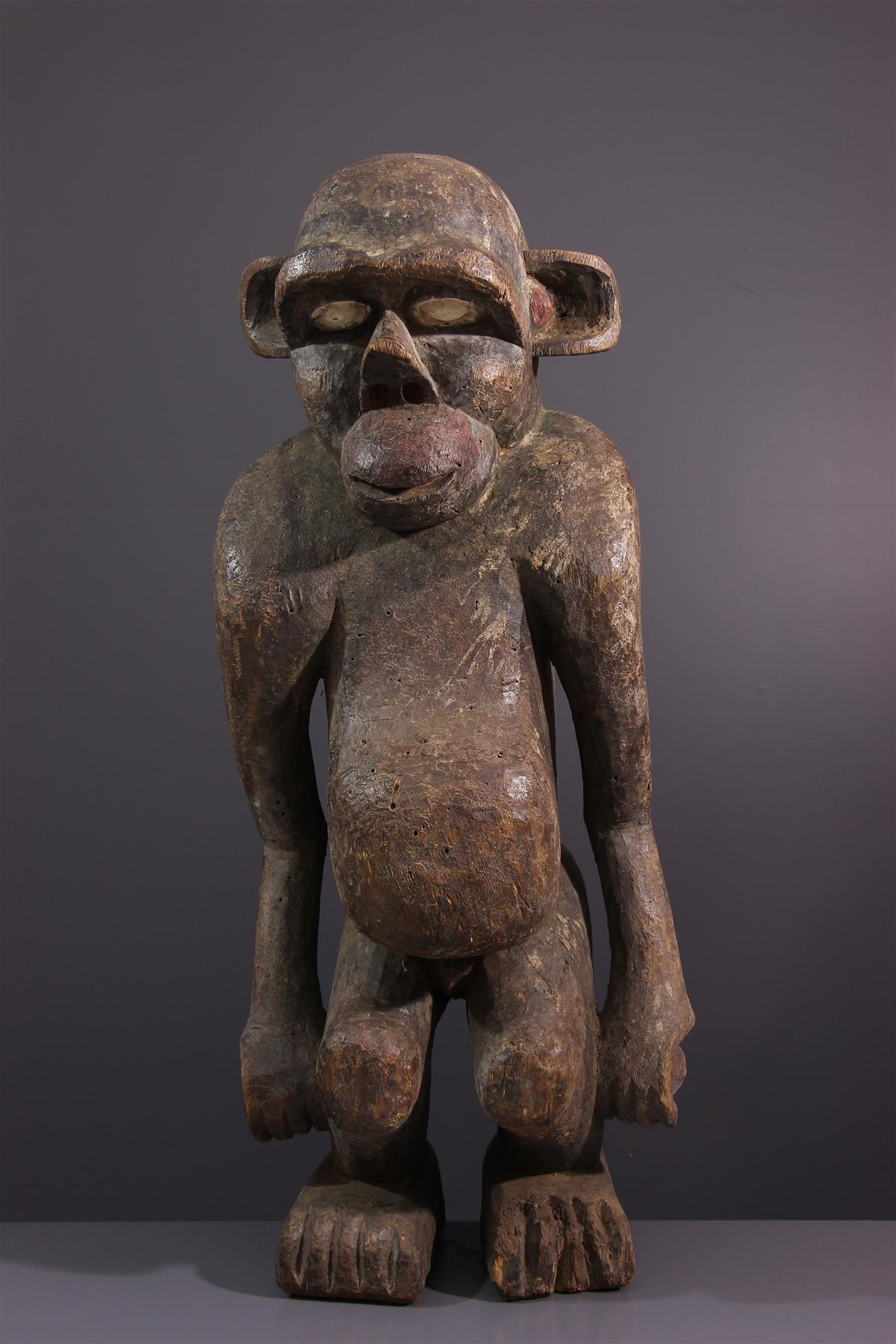 Boulou Monkey - African art