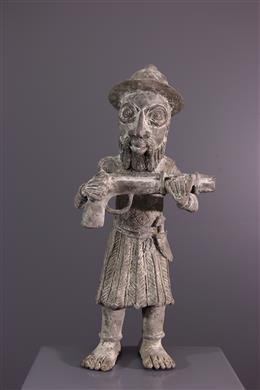 African art - Figure of Portuguese warrior Benin