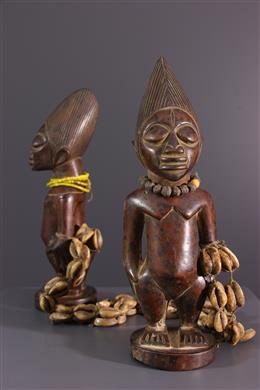 Couple of statuettes Ibedji Yoruba