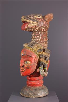 African art - Baga janiform crest mask