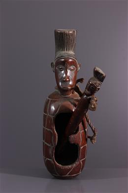 Mangbetu anthropomorphic slit drum