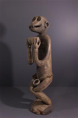 African art - Large statue Baoulé Aboya / Mbotumbo