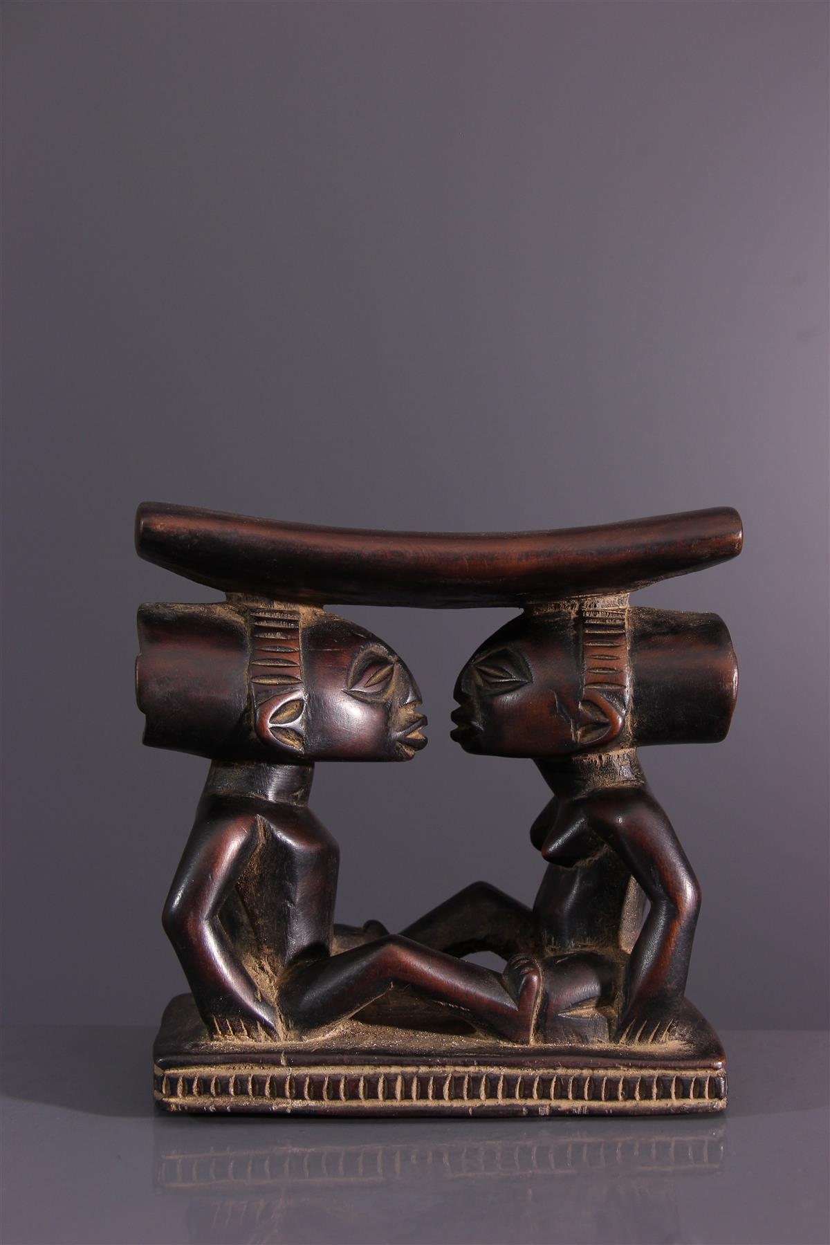 Luba neck support - African art