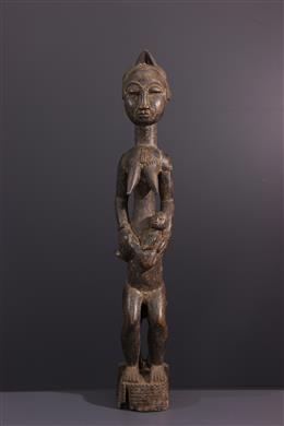 Baoulé maternity figure