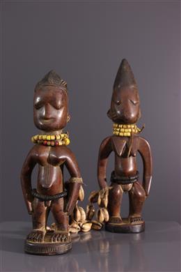 Couple of twins Ibedji Yoruba