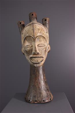 African art - Crest - Janiform bust Idoma