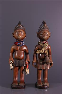African art - Couple of twins Ibedji Yoruba