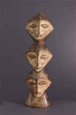 African art - Lega Tricecephalus Initiation Figure