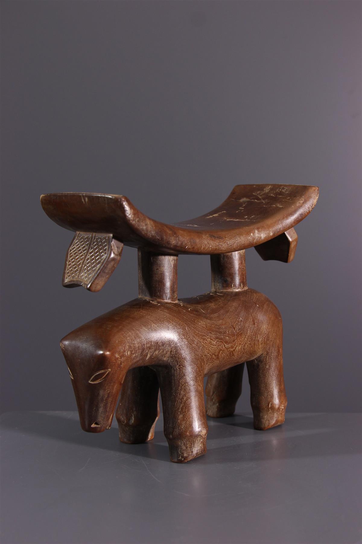 Tschokwe neck rest  - African art