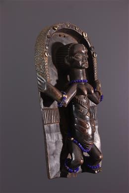 African art - Luba sculpted plank