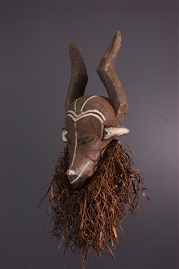 Zoomorphic mask Mbuya jya mafuzo Pende
