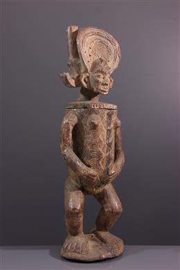 Large anthropomorphic pot Chokwe