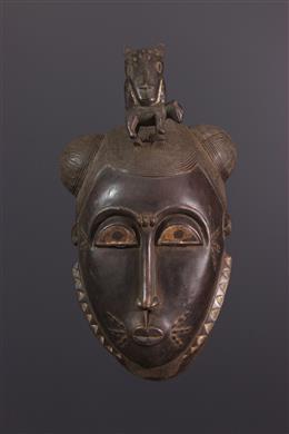 African art - Large Baoule Ndoma Mask