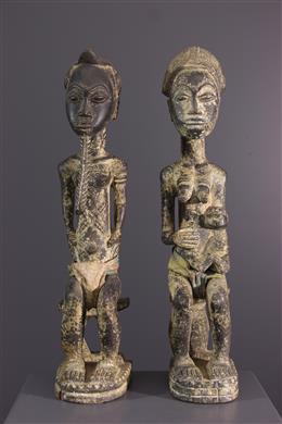 African art - Baule couple figures