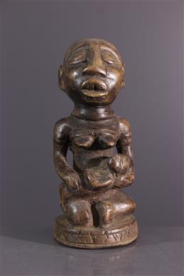 African art - Statuette maternity Yombe Pfemba