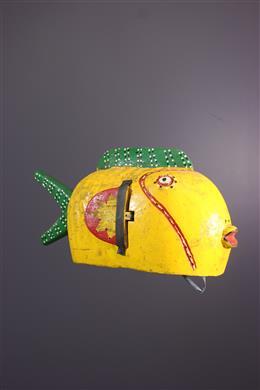 Bozo fish puppet mask