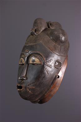 African art - Large Mask Baoulé Kpan