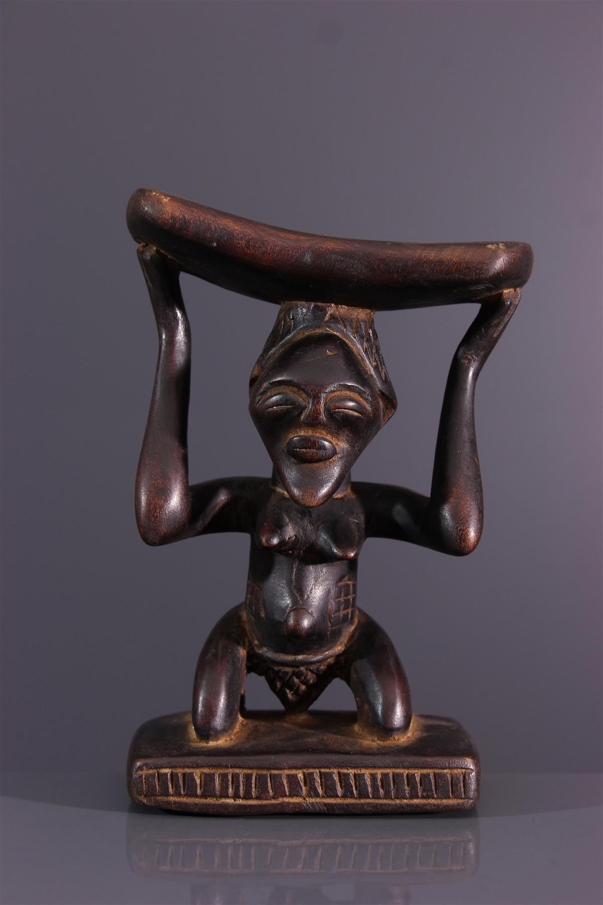 Songye neck support - African art